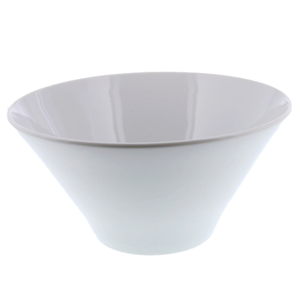 61 oz White Trapezoidal Bowl - Large