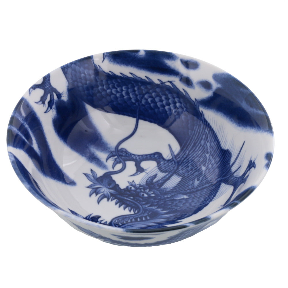 Blue and White Donburi Bowl - Dragon