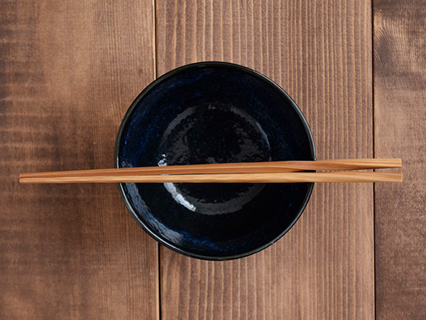 Shaved Tokusa Rice Bowl - Navy Blue