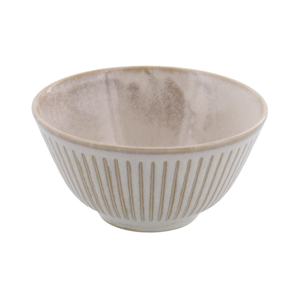 Shaved Tokusa Rice Bowl - Beige