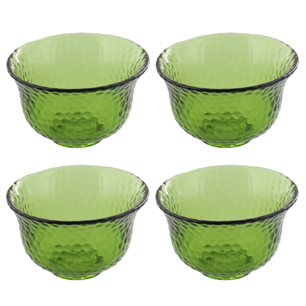 Green Polka Dot Bowl Set of 4 - Extra Small