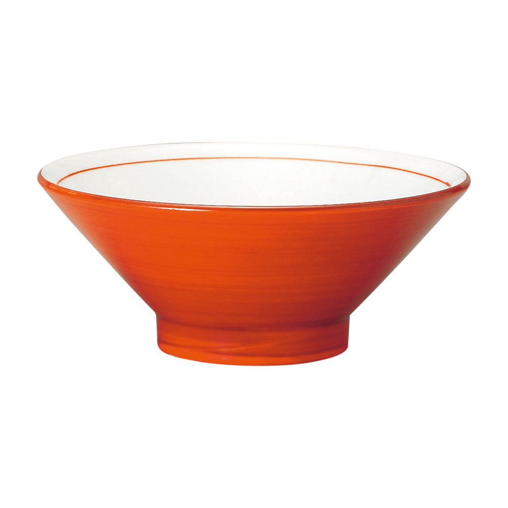 "8.4"" Red and White Noodle Bowl"