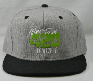 Peter Tosh 420 Flatbill - Gray/Black