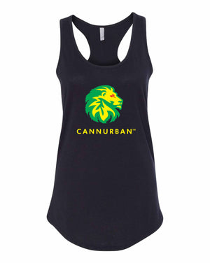 Cannurban Rasta Lion Color Racer Back Tank - Black
