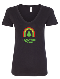 ItalTree Farms Ladies V Neck - Black