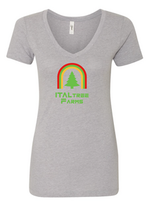 ItalTree Farms Ladies V Neck - Gray