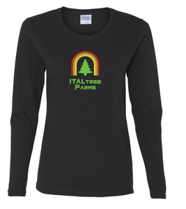 ItalTree Farms Ladies Long Sleeve Tee - Black