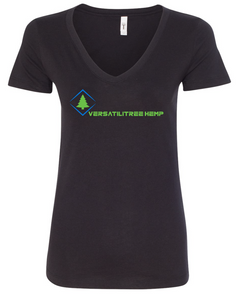 VersatiliTree Hemp Ladies V Neck - Black