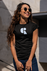 Women's Soft Cotton T-Shirt | Center Logo - Devious Republic | DVSREP