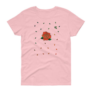 Women's Light Cotton Graphic Tee | Rose Elaborate - Devious Republic | DVSREP