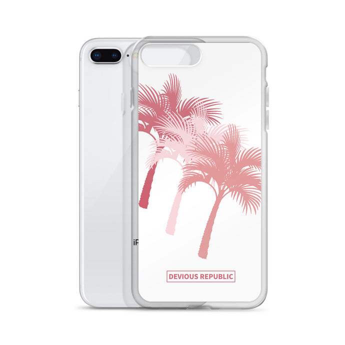 Salmon Tri-Palm iPhone Case for iPhone 6, 7, 8, X and Plus Models - Devious Republic
