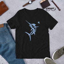 Load image into Gallery viewer, Men's Light Cotton Graphic Tee | Marlin | Blue - Devious Republic | DVSREP