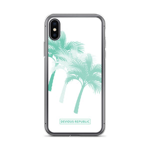 Mint Green Tri-Palm iPhone Case for iPhone 6, 7, 8, X and Plus Models - Devious Republic