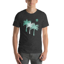 Load image into Gallery viewer, Men's Mint Green Tri-Palm Graphic Tee - Devious Republic