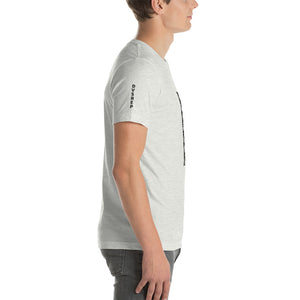 Men's Light Cotton Graphic Tee | Vertical Logo | Black - Devious Republic | DVSREP