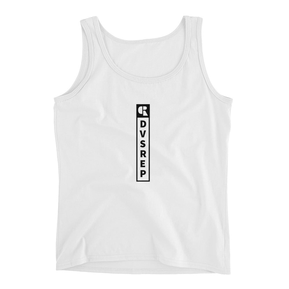 Women's Soft Cotton Tank Top | Vertical Logo - Devious Republic | DVSREP