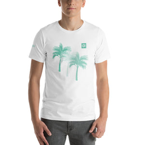 Men's Mint Green Tri-Palm Graphic Tee - Devious Republic