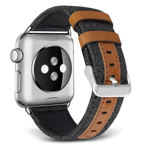 Apple Watch Band | Genuine Leather/Canvas Hybrid - Devious Republic | DVSREP