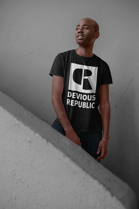 Men's Soft Cotton T-Shirt | Oversized Logo - Devious Republic | DVSREP
