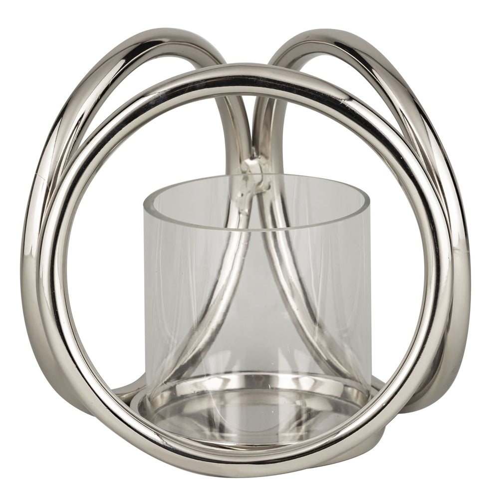 Farrah Collection Silver XL Candle Holder
