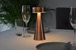 LED Cordless Rechargeable Lamp - Charm Drum Antique Copper