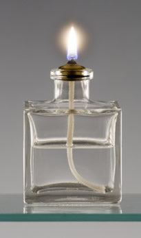 Oil Lamp, Square Cube