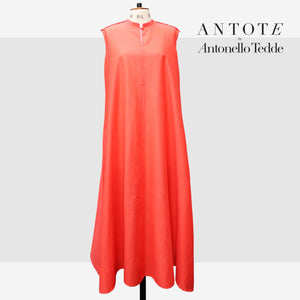 RED DRESS ANTOTE_HAND-WOVEN DETAILS front