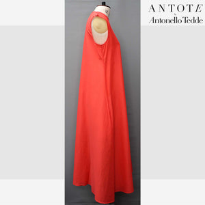 RED DRESS ANTOTE_HAND-WOVEN DETAILS side