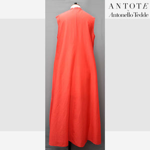 RED DRESS ANTOTE_HAND-WOVEN DETAILS  back