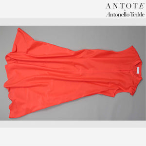 RED DRESS ANTOTE_HAND-WOVEN DETAILS flat