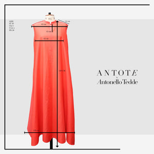 RED DRESS ANTOTE_HAND-WOVEN DETAILS size