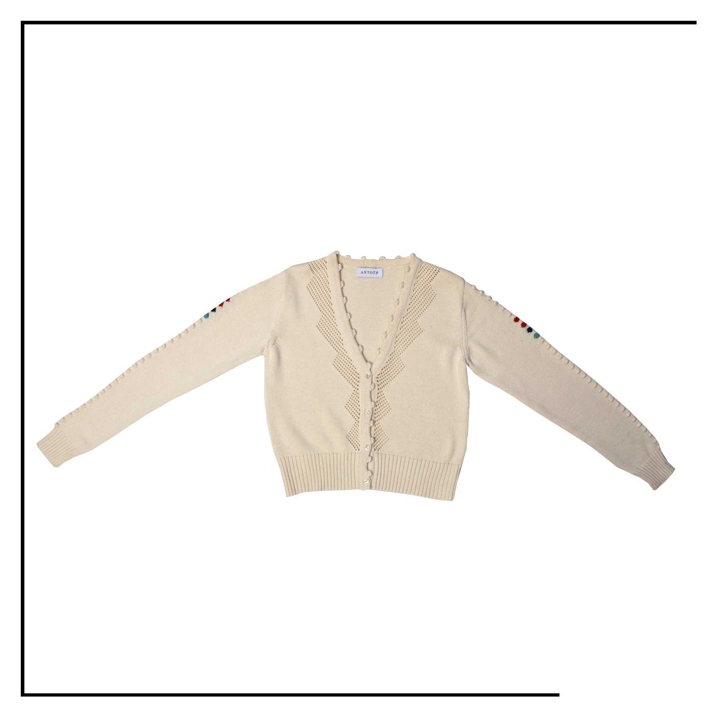 ANTOTE_OLIA Knitted Cardigan Cream