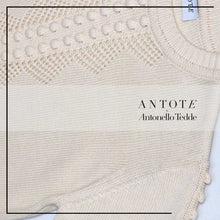 Load image into Gallery viewer, ANTOTE_RU Knitted short sleeve top Cream