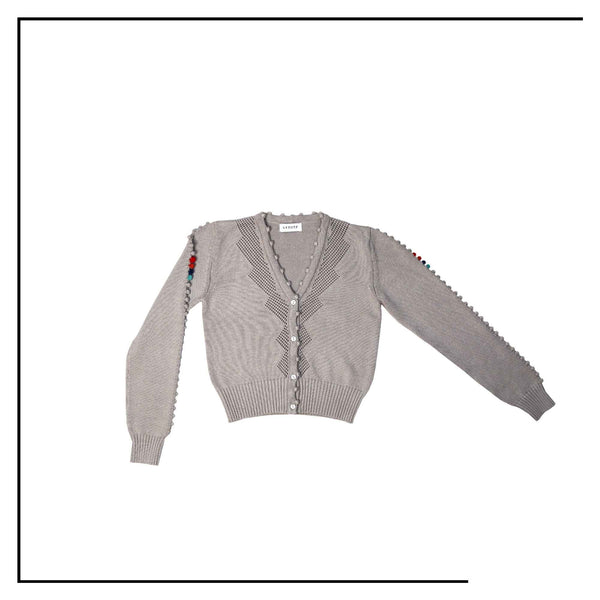 ANTOTE_OLIA Knitted Cardigan Grey