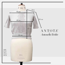 Load image into Gallery viewer, ANTOTE_RU Knitted short sleeve top GREY