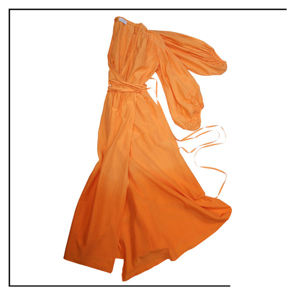 ANTOTE_MURTA Dip Dye Orange Wrap Dress