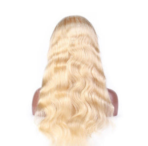 Brazilian Blonde Body Wave Virgin Frontal Wigs
