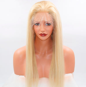 Brazilian Blonde Straight Virgin Frontal Wigs