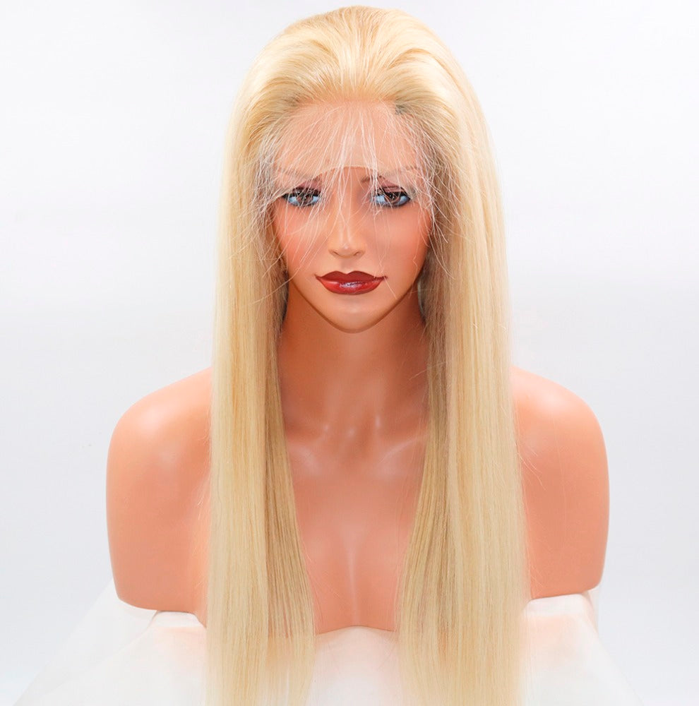Blonde Straight Virgin Frontal Wigs