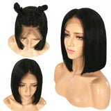 Straight Virgin Lace Frontal Bob Wigs