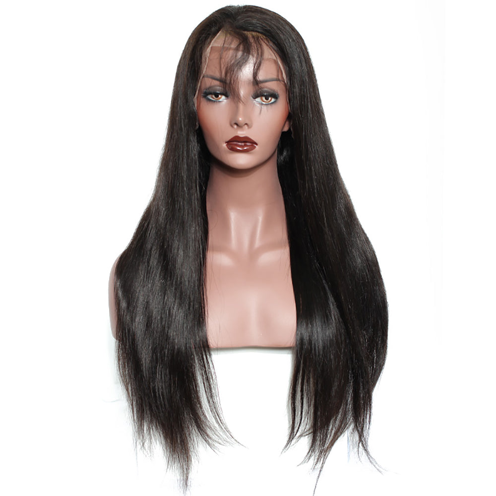 Brazilian Straight Virgin Lace Frontal Wigs