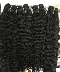 Raw Burmese Curly Virgin Hair Extensions