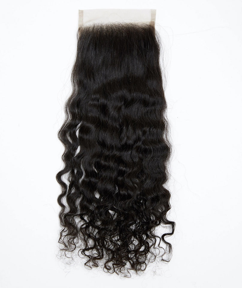 Raw Burmese Curly Virgin Hair Closures