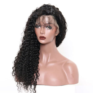 Premium Deep Wave Virgin Lace Frontal Wigs