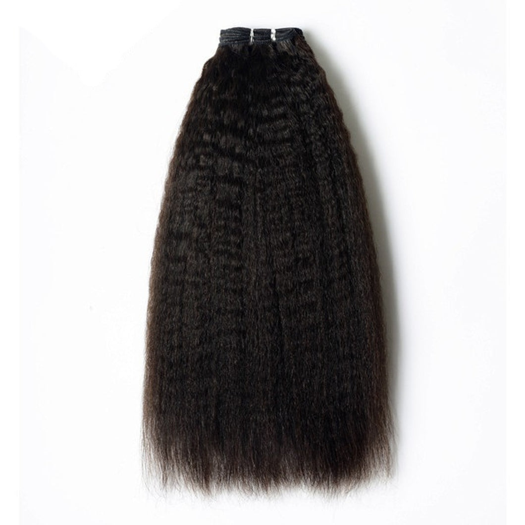 Premium Natural Kinky Straight Virgin Hair Extensions