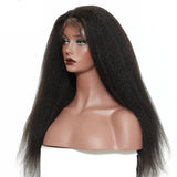 Premium Natural Kinky Straight Virgin Lace Frontal Wigs