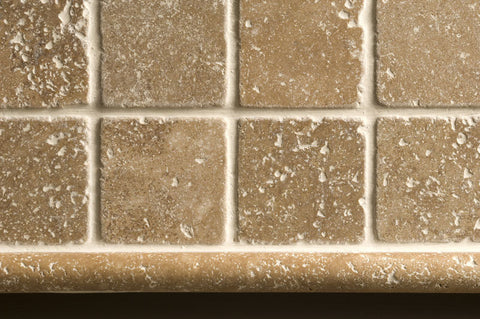 Noce Tumbled Travertine Mosaic