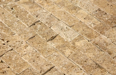 Light Split Face Travertine Mosaic