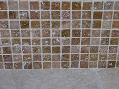 Yellow Tumbled Travertine Mosaic