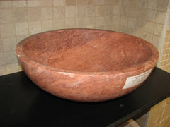 Red Noce Travertine Sink; Honed & Filled